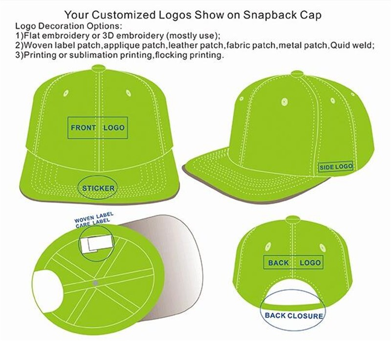 cba0973992a 2017 Fashion 3d printed caps embroidery custom snapback hats