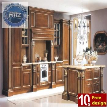Modular Lemari Dapur Kayu Solid Modern Yang Kecil Dan Murah Desain Furniture