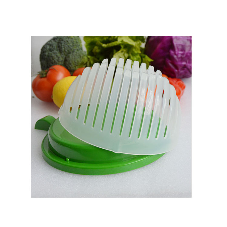As seen on TV Vegetable Salad Slicer Cutter bowl plastic creative salad cutting bowl
