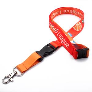 Sublimation printed lanyard necklace keychain