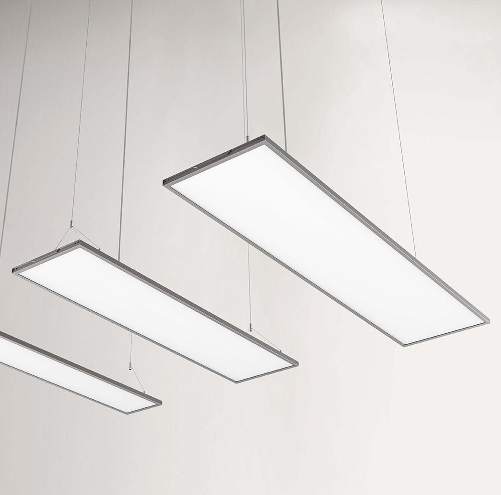 INLITY Slim Designed Square Panel LED Light 1380*338mm ultra Thin Transparent Dimming pendant