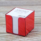 plastic memo cube with pen holder boxes paper block note cube memo pad