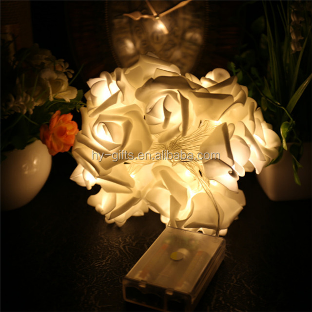 home decoration party event led rose flower indoor desk string led rose flower