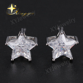 hearts carat aaa and arrows diamond earring stud cut earrings quality products top cz umode