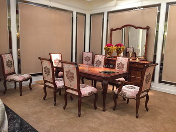 0051 Classic Italian Dining Room Sets Amrican Style Solid Wood Tables