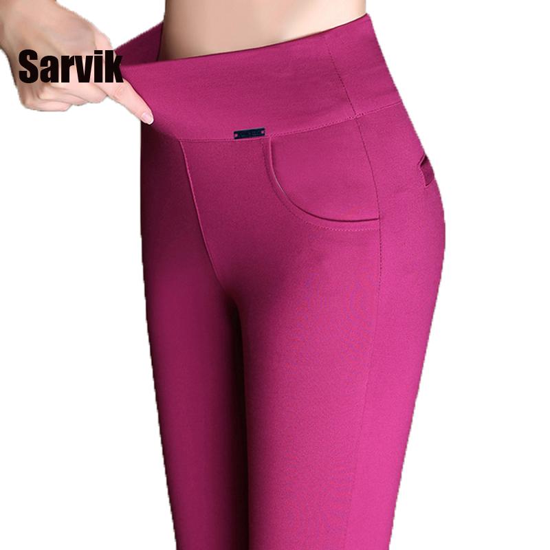 Promotion women newest stretch office work pants plus size 6XL 5XL black red long trousers autumn
