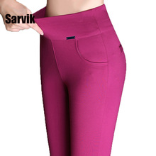 Promotion! women newest stretch office work pants plus size 6XL 5XL black red long trousers autumn pencil pants Free shipping