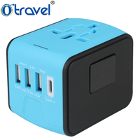 Hot sell combined world USB travel adaptor charger plug for UK/US/ASIA/EU/Japan/AU, international worldwide travel adapter