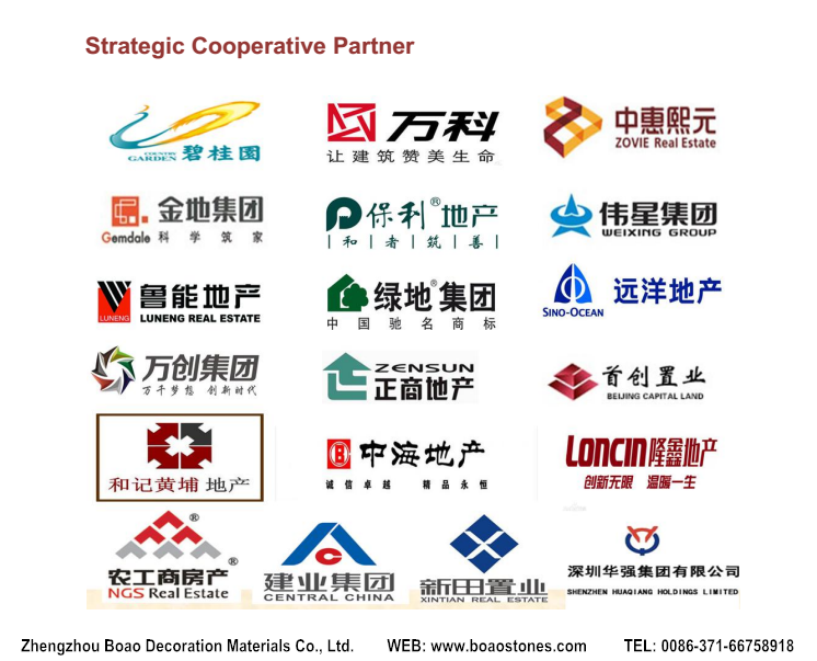 Boao partner of real estate business for Outdoor and indoor decorative stone