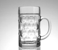 Wholesale 34OZ large beer mug beer steins clear glass drinking cup