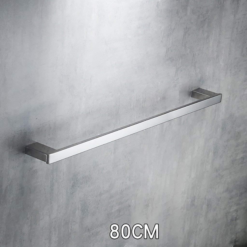 EQEQ Bath Room Towel Rack Towel Rack Wall Mounting Wall Mounting Pole Stainless Steel Towel Bar Towel Rack Kitchen Towel Rack Door Storage (Size: 60 cm).