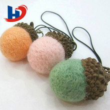 Different colors felt ball mobile for decoration