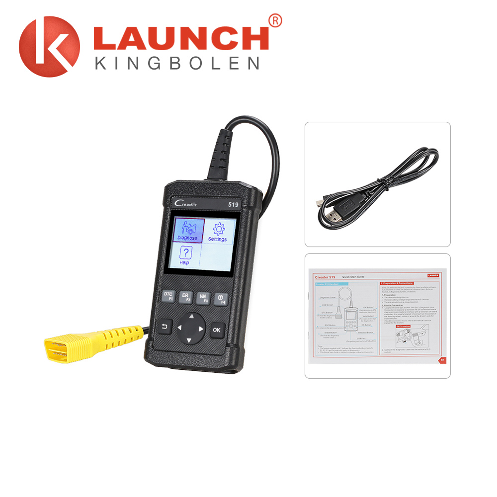 2.8-inch color display obd fault code reader LAUNCH CReader 519 The same function as Autel AL519