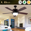 Simple Design Antique Style Indoor Fan Lamp Low Power Decorative Led Pendant Ceiling Fan With Light
