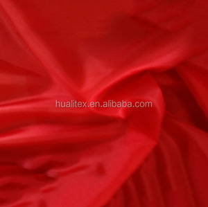 100% polyester 210T red taffeta fabric