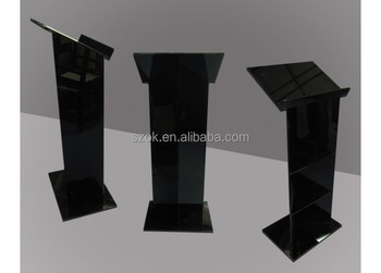 new products wholesale black acrylic podium for churches
