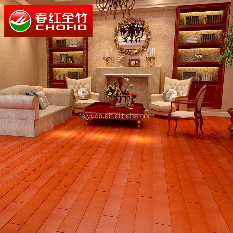 Jiangxi Feiyu Solid Imitating wood floor/stained horizontal/Vertical grain wood effect bamboo flooring