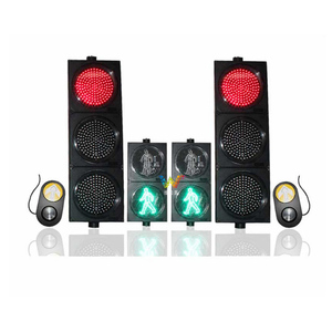 Road Safety 300mm outdoor screen pedestrian LED traffic lights with push button