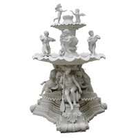 Natural marble water fountains Stone Garden Products,Carving Angel Stone water fountain bases