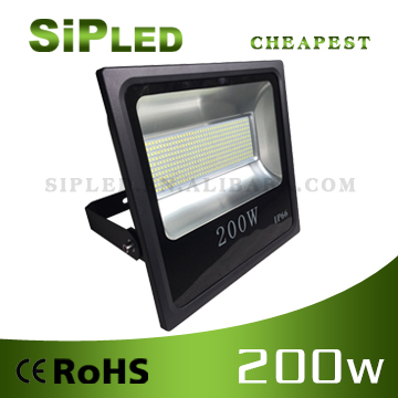 Outdoor SMD white color IP65 200W LED flood light for Philip type