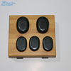 black cooking jade hot massage stones kit