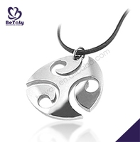 Stainless steel or titanium necklace custom wholesale quantum pendant price in india