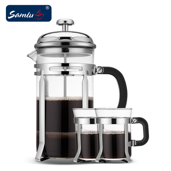 Low Price Coffee French Press Set With Stainless Filter Cup