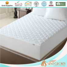 Comforter sleep well Bed thin Crib Mattress Pad with Elastic Skirt Polyester Mattress Pad