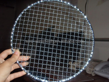 Round Shaped Stainless Steel Barbecue Grill Wire Mesh Netting Of ...