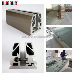 Hot sales aluminum indoor railing for tempered glass railing, U channel glass railings,railing for balcony
