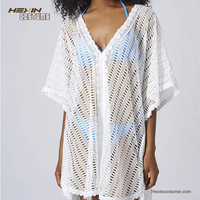 Wholesale new white cover up beach dress