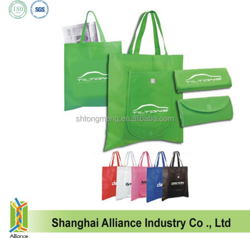 80GSM Non Woven Handly Tote Bag Folds Into a Compact Pouch/Purse