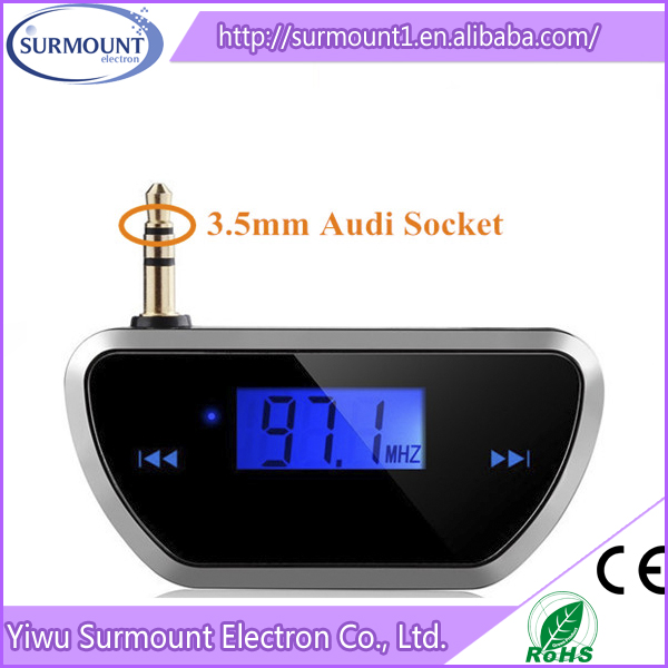 Best Selling 3.5mm Wireless FM Radio Transmitter For iphone/samsung