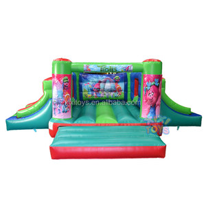 2018 double slide inflatable castle for kids birthday party / Celebration event kids soft playground