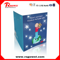 For promotion birthday song greeting cards matter with led