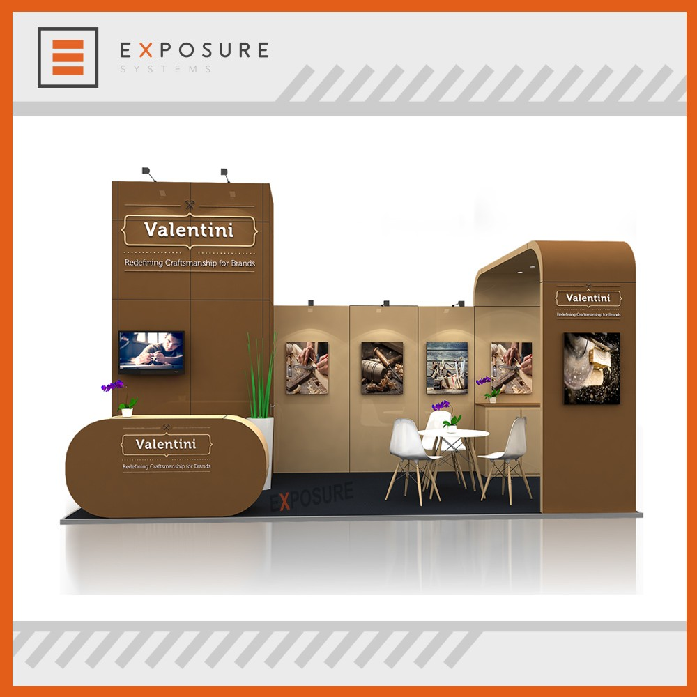 Expo Portable U Shape Sampling Outdoor Shell Scheme Trade Show Material Exhibition Booth With Promotion Counter