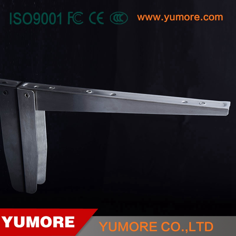 High quality supports metal corner screw steel floding slatwall shelf bracket