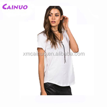 Custom lady slim fit t shirt wholesale for printing