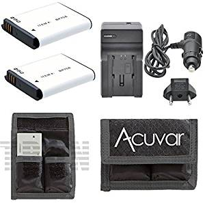 2 BP-70A High-Capacity Batteries + Car / Home Charger + Battery Pouch for Samsung TL Series TL105, TL110, TL125, TL205, WB Series, WB30F, WB35F, WB50F, WP10, EA-BP70A, BP-70A, IA-BP70A and Other Models