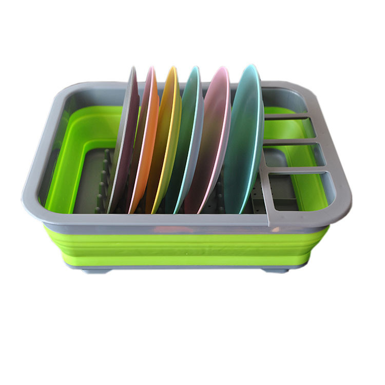 collapsible dish rack drainer
