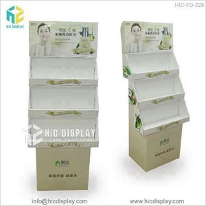 Supermarket Fruit Juice Cardboard Floor Standing Display Unit For Ocean Spray