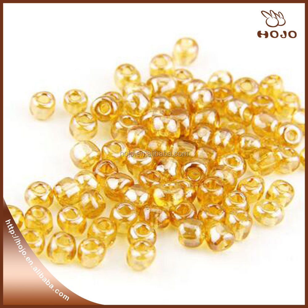 Hot sale jewelry making transparent Glass Seed Bead in bulk