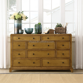F40691A 1 Austrialia Style Furniture 10 Drawer Tallboy Solid Wood Chest Of  Drawers