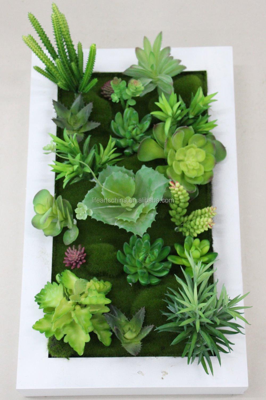 Pflanzen im bilderrahmen wohn design for Pflanzen deko wand