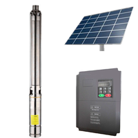 1HP-100HP high pressure solar water pump system with 1-200 m3/h and 10-500m head