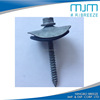 Sri lanka type hex flange head roofing screw for wood screw with big washer