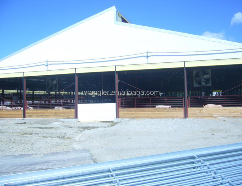 Durable Steel structure prefabricated metal Pig Barn/ House Construction