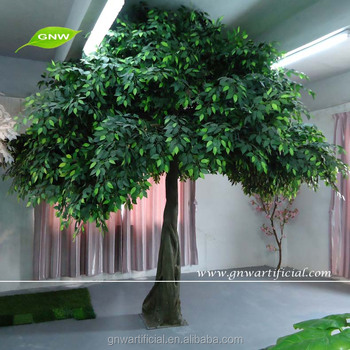 artificial indoor trees banyan green leaves umbrella shape tree for Artificial Indoor Trees