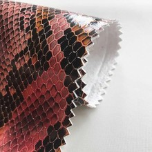 Shinny Snake Skin Synthetic Leather Fabric For Making Bags