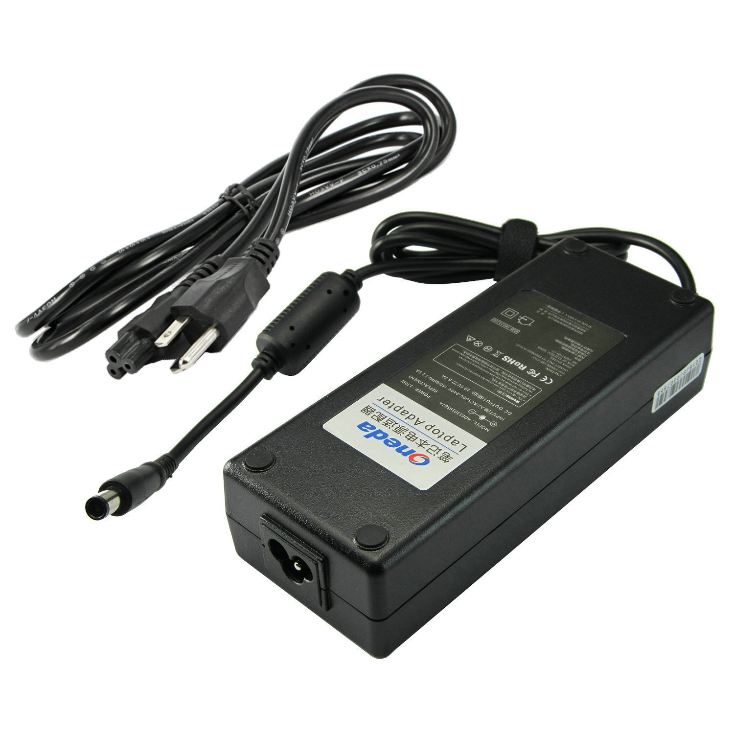 Oneda 130W 19.5V 6.7A AC Power Adapter Charger for Dell PA-4E PA-13 DA130PE1-00 LA130PM121 JU012 0JU012 CM161 OCM161 330-1829 330-1830 X408G D232H 0X408G 0D232H ADP-130DB B TC887 310-8275 Supply Cord